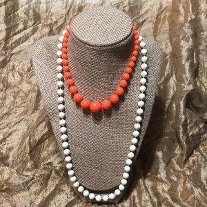 Jewelry - 2 Vintage Faux Pearl Necklaces Super Cute!